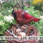 Grape Vine Wreath Becomes Garden Art Bird Nest