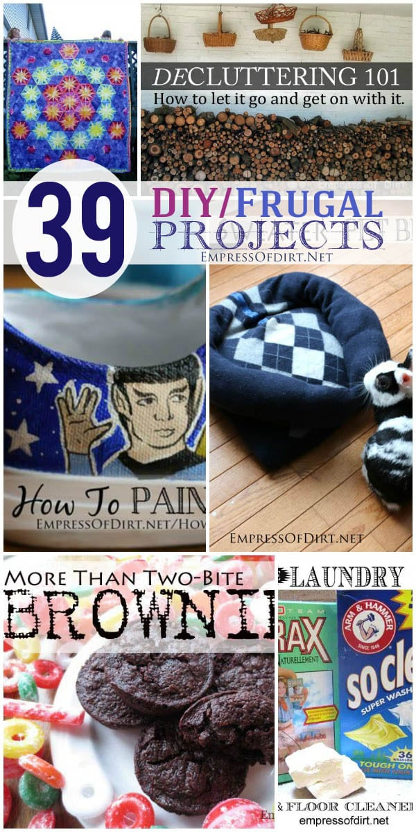 39 DIY / Frugal Projects for the home | empressofdirt.net