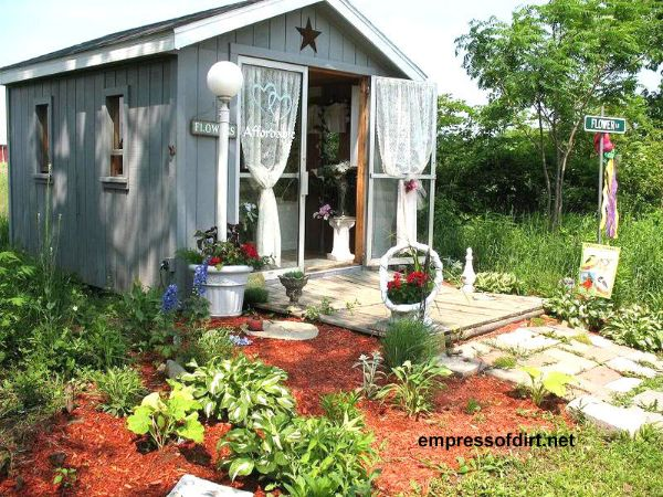 Garden shed mania gallery of ideas empress of dirt for Pretty garden sheds