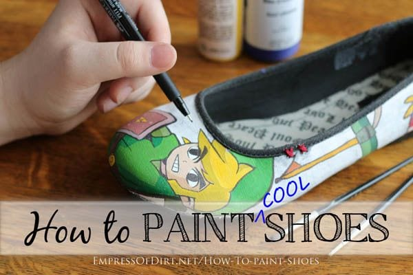 Spray Paint Canvas Shoes
