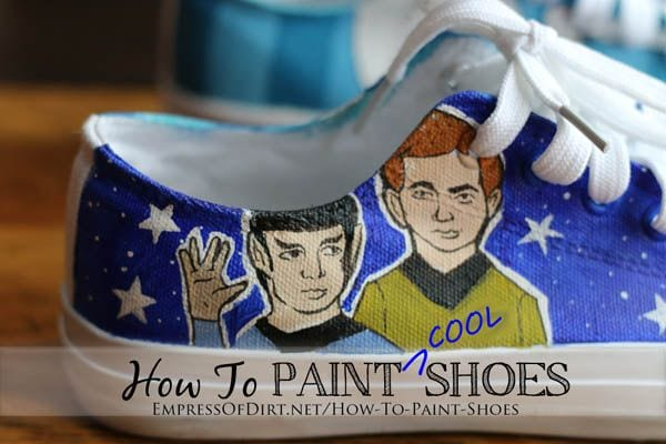 How to paint shoes - free tutorial