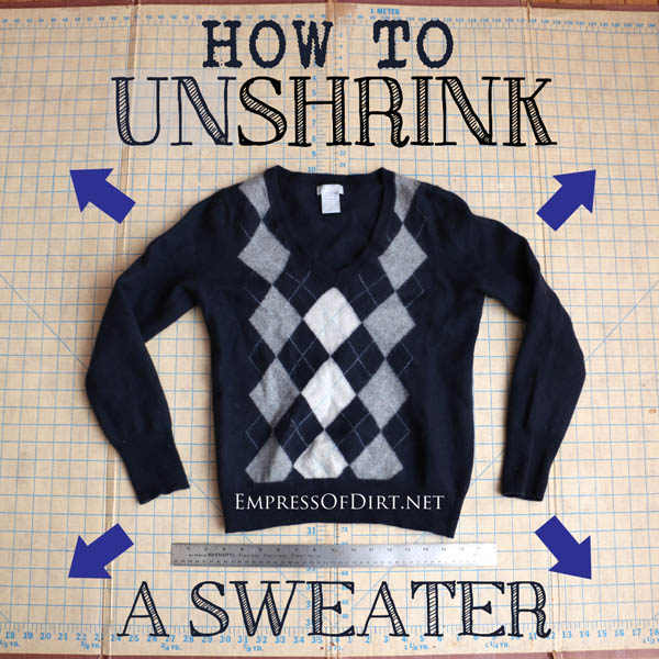 So, you put your favorite sweater in the hot washer or dryer (or both) and it shrunk down several sizes. Now what? Can you actually unshrink a sweater? Expert Kristi Porter weights in.