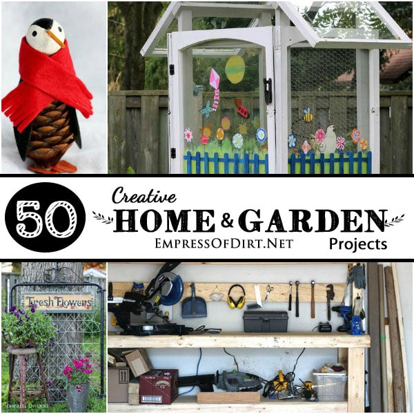 50 Home and Garden DIY Projects at empressofdirt.net