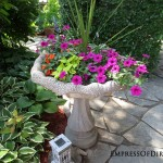 12+ Ideas For Bird Bath Planters