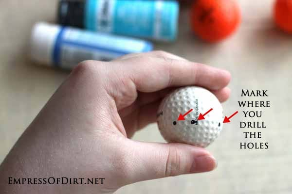 recycled golf ball craft