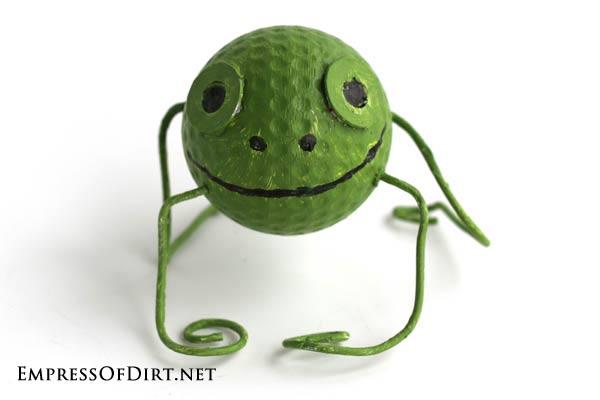 Golf ball frog.