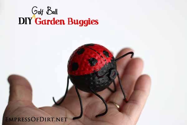 Golf ball lady bug.