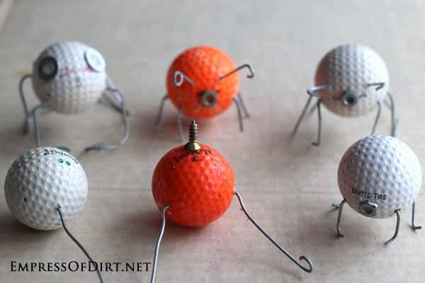 Various golf ball bugs.