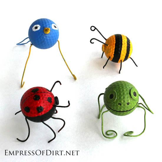 golf ball garden bugs