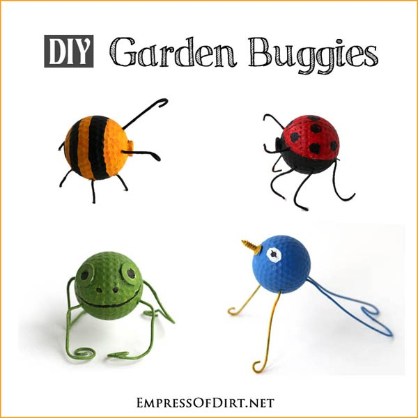 DIY Garden Buggies - a recycled craft project empressofdirt.net/earth-day-projects #earthdayprojects
