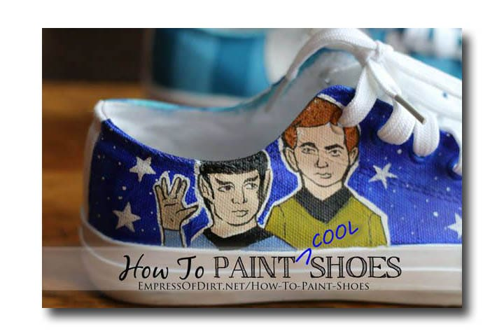 Painted shoes - a recycled craft project empressofdirt.net/earth-day-projects #earthdayprojects