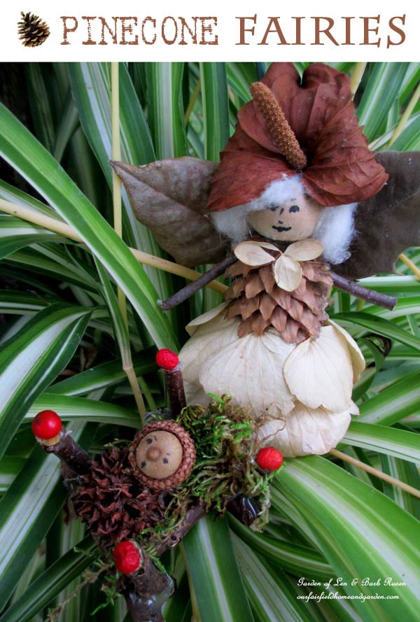 Pinecone Fairies - a recycled craft project by ourfairfieldhomeandgarden.com