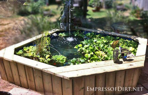 Beautiful backyard pond ideas for all budgets | Hot tub converted into garden pond