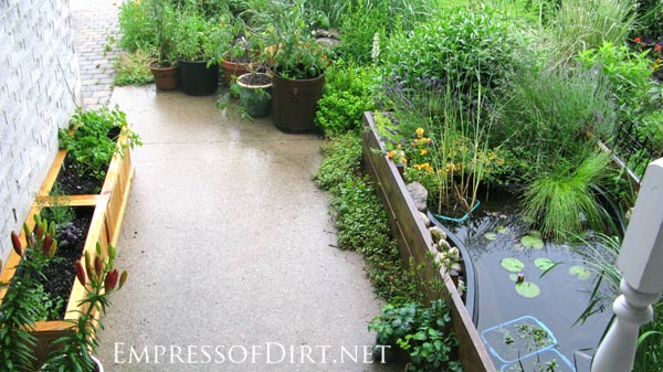 Beautiful backyard pond ideas for all budgets | Pond in a raised bed