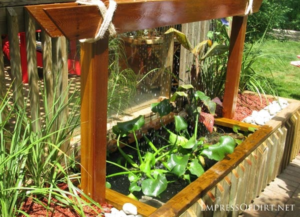 Backyard pond and water feature ideas: build a water wall!