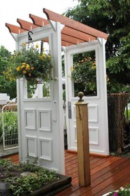 Doors and windows in the garden