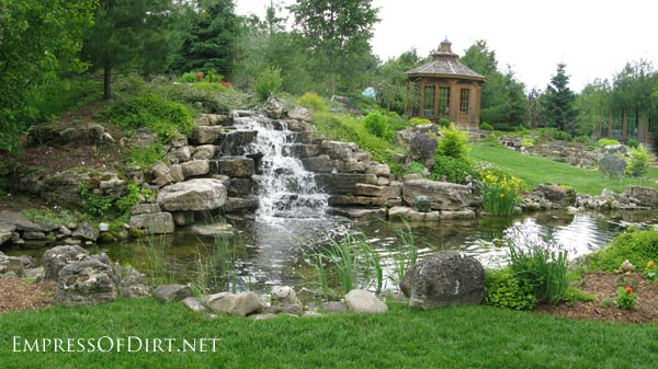 Backyard Waterfalls Ideas backyard waterfalls Beautiful Backyard Pond Ideas For All Budgets Large Inground Garden Pond With Waterfall