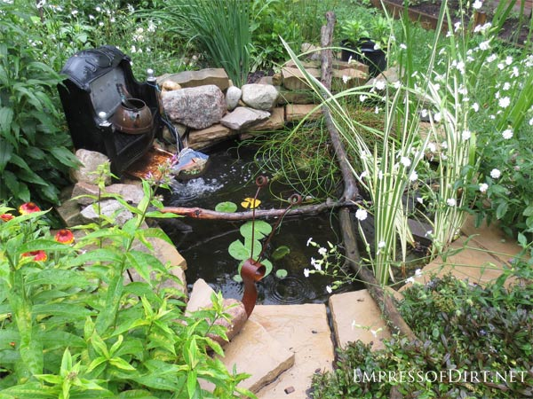 Small Inground Backyard Pond With Pond Liner