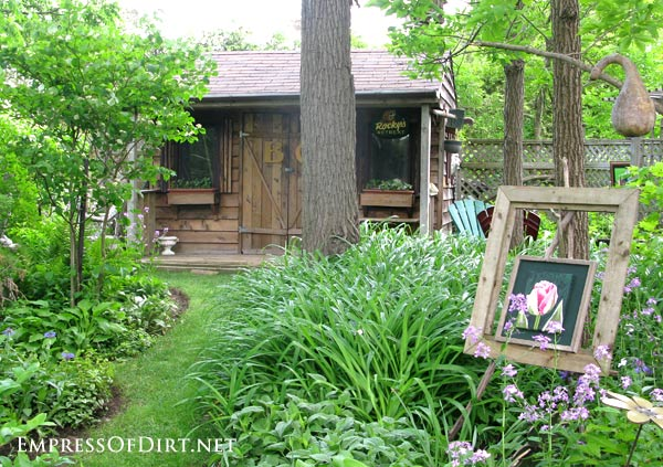 12+ Ideas for using doors and windows in the garden. Repurpose from the thrift shop or junk pile and see what you can make for your backyard including arbors and privacy screens.