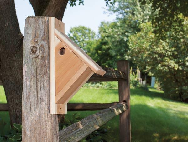 Make a chickadee nesting box