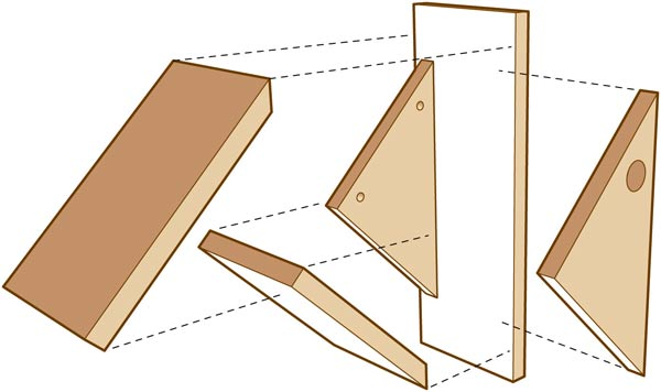 DIY Birdhouses - make a chickadee nesting box - diagram