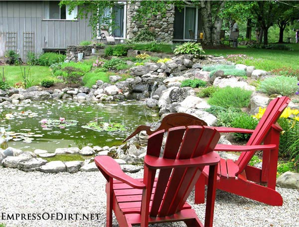 Red Adirondack Chairs: Gallery of garden art chair ideas