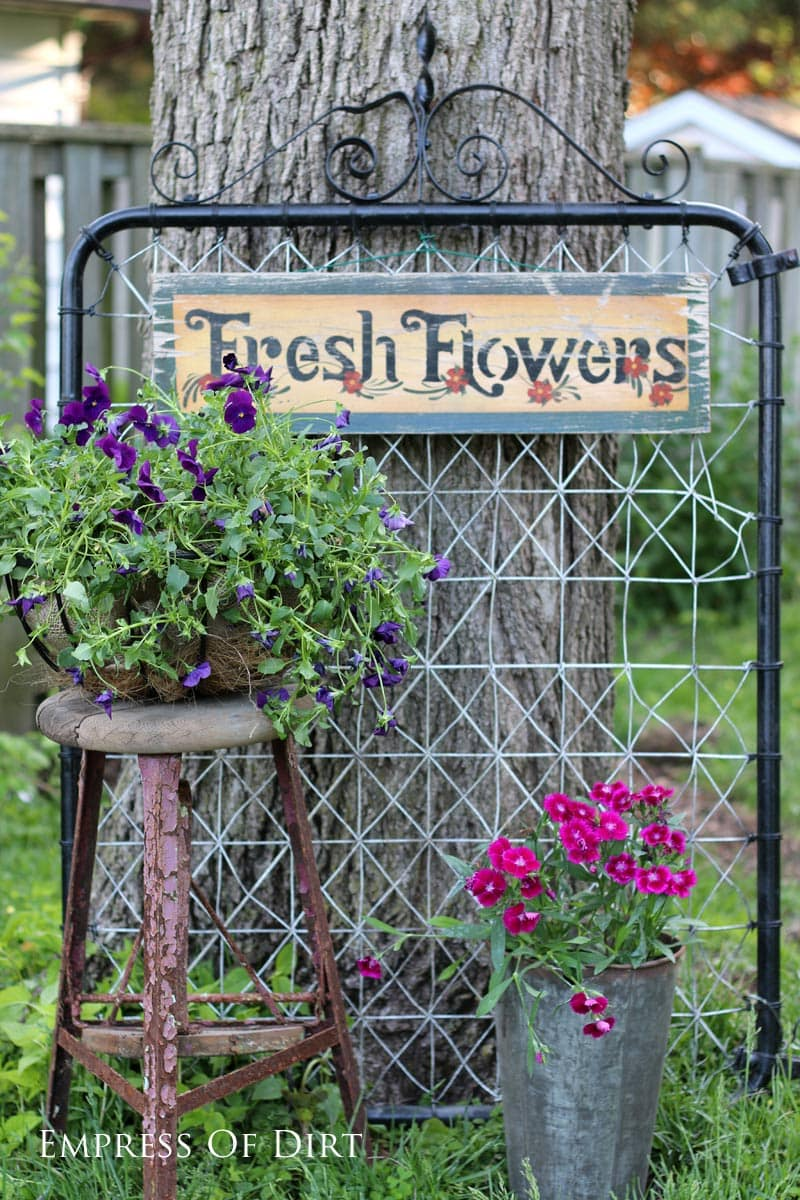 Creative garden ideas - home garden tour at empressofdirt.net