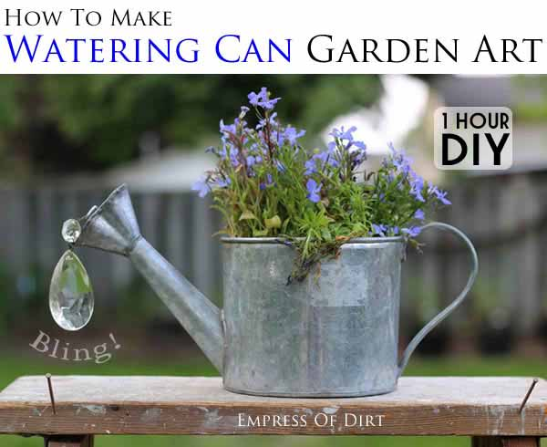 Watering can garden art tutorial