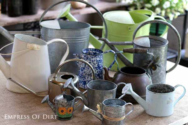Gallery of watering can garden art ideas