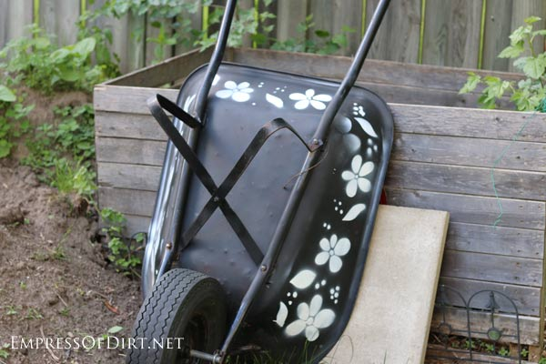 Stencilled Wheelbarrow