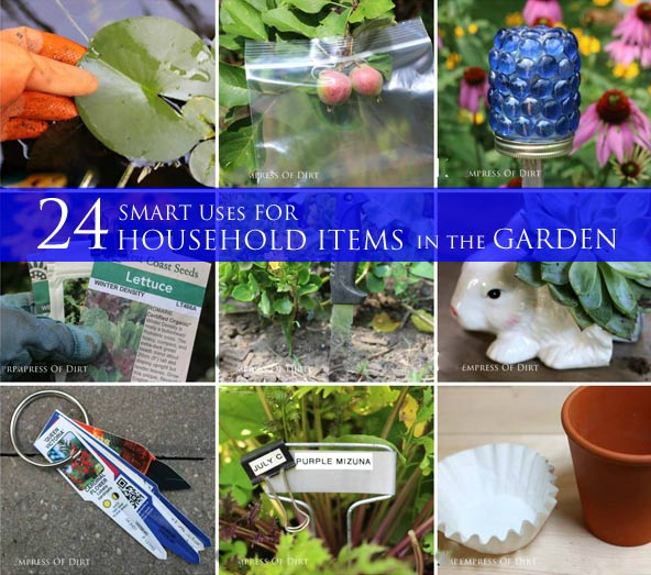 24 Smart Uses For Household Items In The Garden