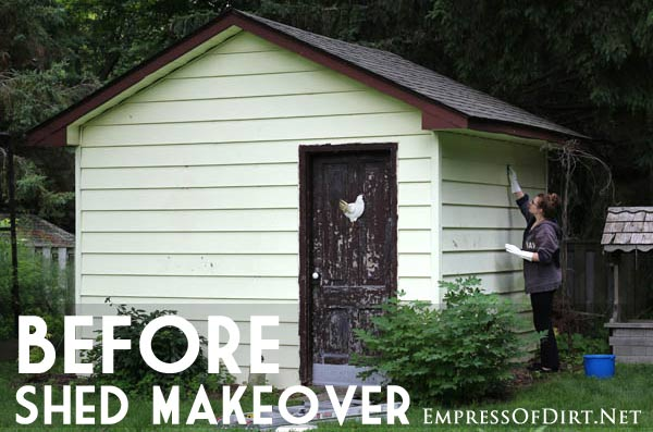 How To Paint Vinyl Siding Shed Makeover Empress Of Dirt