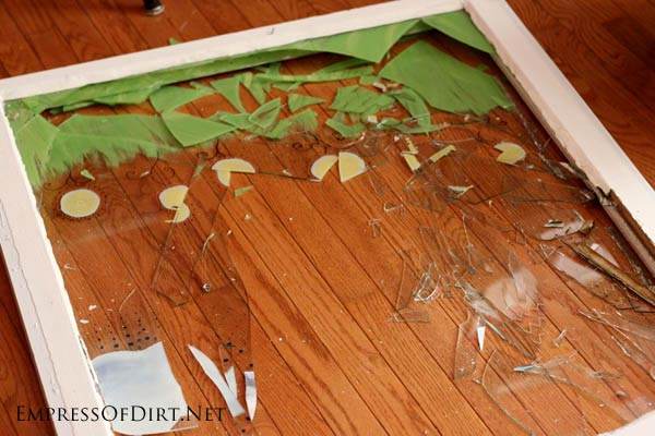 Oops! Broken window - DIY Window Greenhouse | empressofdirt.net