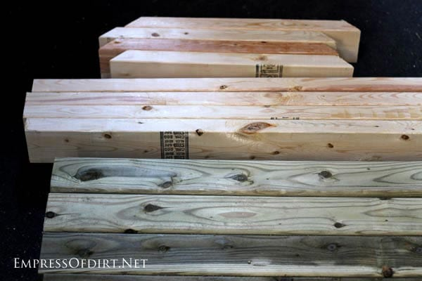 Wood for building table base for window greenhouse | empressofdirt.net