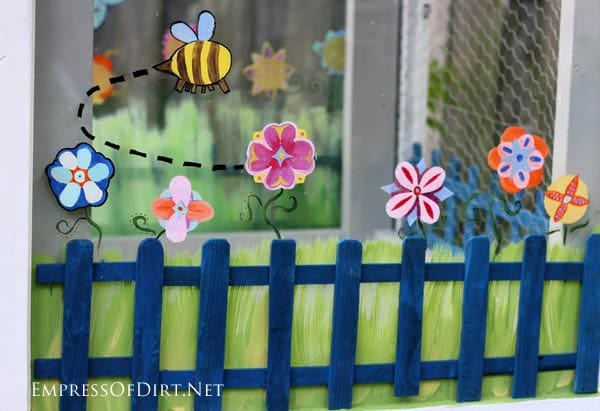 Painted Windows - Make A Window Greenhouse | DIY project at empressofdirt.net