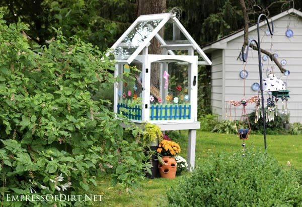 Make A Window Greenhouse from old windows | empressofdirt.net