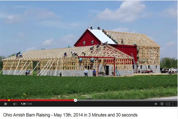 Amish Barn Raising time lapse video | empressofdirt.net