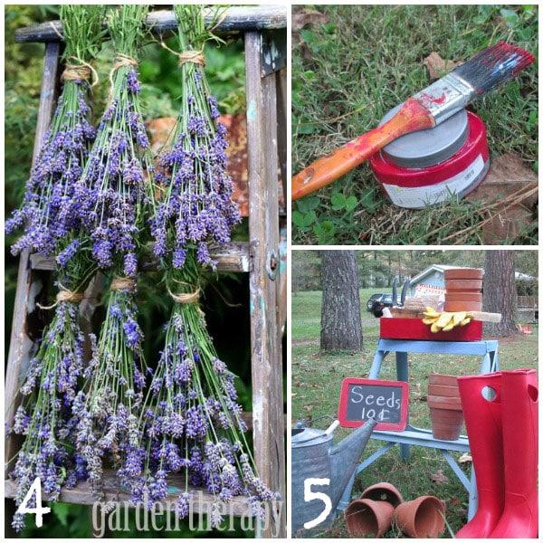 repurposing wood ladders as garden art  empress of dirt, Garden idea