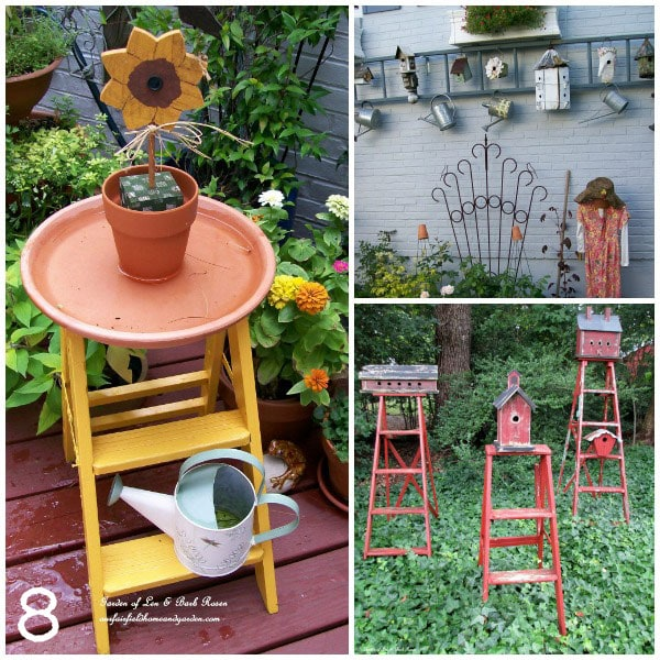 Garden ladder ideas by Our Fairfield Home and Garden via empressofdirt.net