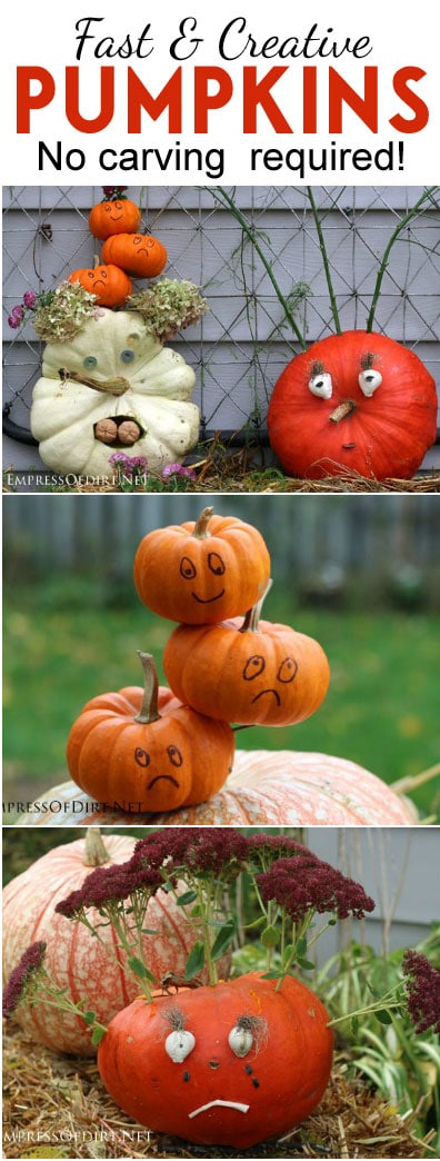 Tips for creating a fabulous Halloween or fall decor pumpkin using household items | empressofdirt.net