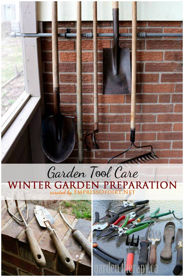 Winter Garden Preparation: Garden Tool Care | Autumn is the time to put away the summer garden, grow some fall veggies, and get everything ready for spring. You'll be so glad you took the time to clean and sharpen garden tools and prepare early spring planting beds ahead of time.