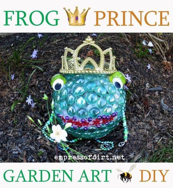 Frog Prince garden art