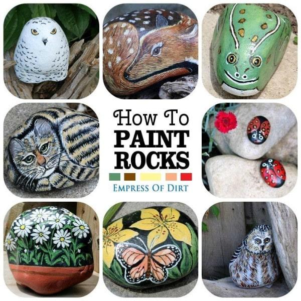 How to paint creative rocks