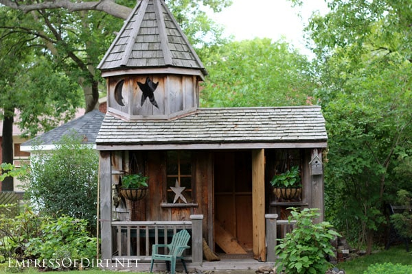 Garden Sheds Ideas garden shed via cathy what is old is new Moon And Star Shed See More Creative Garden Shed Ideas At Empressofdirtnet