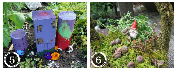 Make a miniature garden village and mossy gnome garden in a basket plus more sweet DIY garden ideas at empressofdirt.net