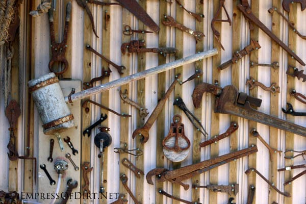 Worlds largest tool art collection including wrenches, hammers, saws, and more.