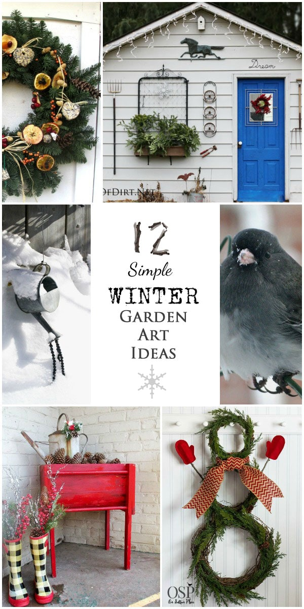 12 Simple Winter Garden Art Ideas