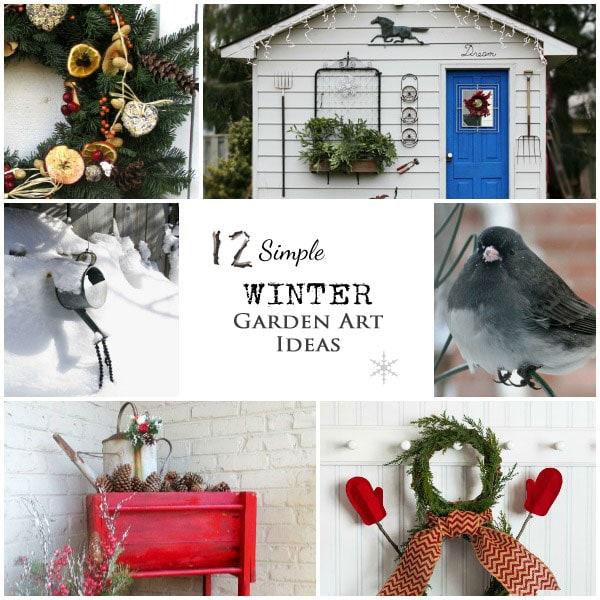12 Simple Winter Garden Art Ideas