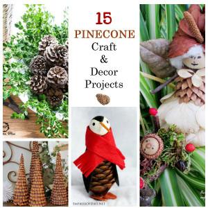 DIY Pinecone Crafts & Decor Ideas