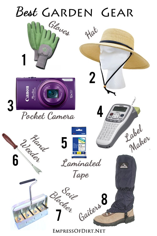What do experienced gardeners recommend? Here's some very helpful items for efficient gardening (and a happy gardener)!